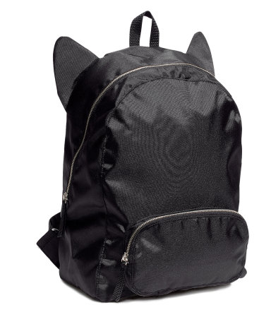 Not sure if this backpack is meant to be a cat, but that's what I'm going with.  $24.95