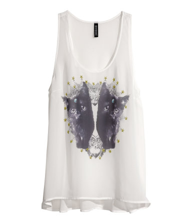 Look at those kittens! Sheer kitten tank, $14.95